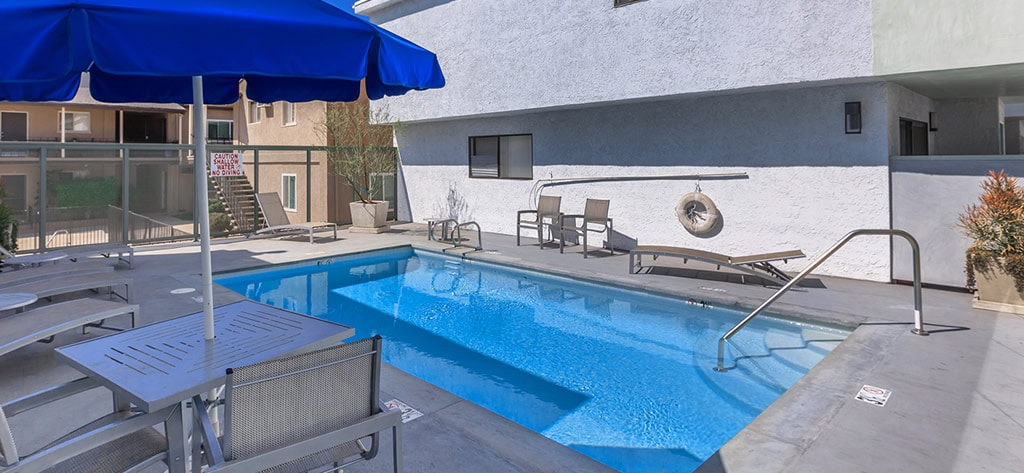 Pool area of Apartments for Rent CA Kester