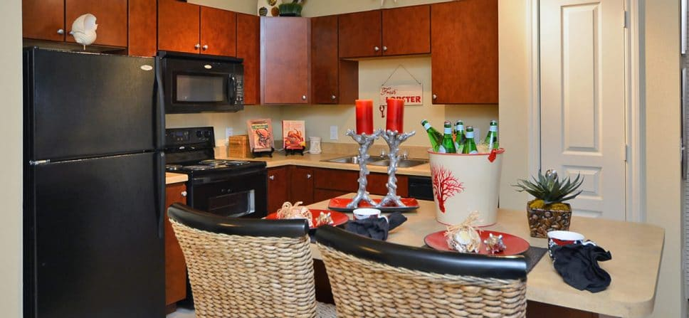 apartments conroe kitchen